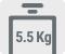 Capacitate de spalare 5.5 kg