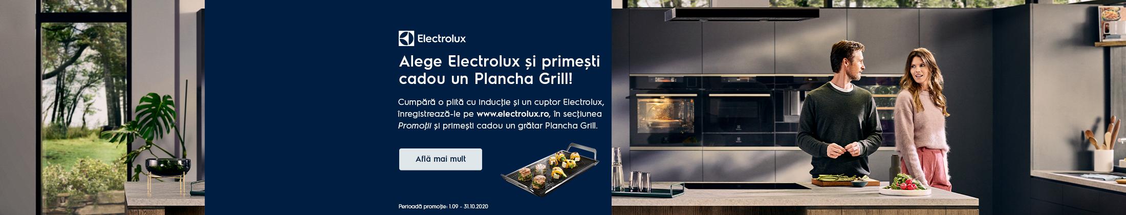 Cadou un Plancha Grill la achizita unui set Electrolux