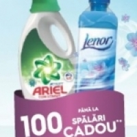 Ariel & Lenor cadou la masini de spalat rufe Electrolux