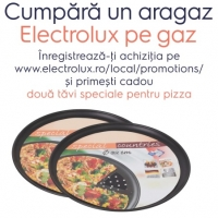 2 tavi de pizza cadou la achizitia unui aragaz Electrolux
