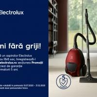 5 ani fără griji pentru aspiratoarele Electrolux!