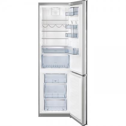 Combina frigorifica AEG S83920CMXF, 60 cm, inox, clasa A++, LCD, dezghetare automata, CustomFlex System, TwinTech™ NoFrost