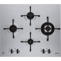 Plita incorporabila pe gaz Electrolux EGU6648LXX, 60 cm, ultra plata, inox, fonta, arzator Wok