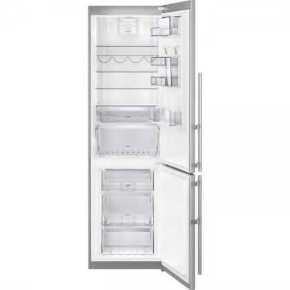 Combina frigorifica No Frost Electrolux EN3889MFX, 60 cm, inox, TwinTech®, afisaj LCD