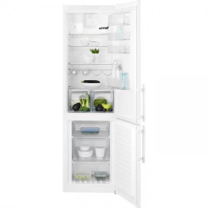 Combina frigorifica No Frost Electrolux EN3852JOW, 60 cm, alba, TwinTech®, afisaj LCD