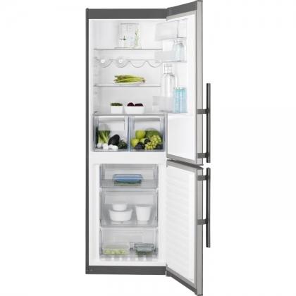 Combina frigorifica No Frost Electrolux EN3454MOX, 60 cm, inox, TwinTech®, afisaj LCD