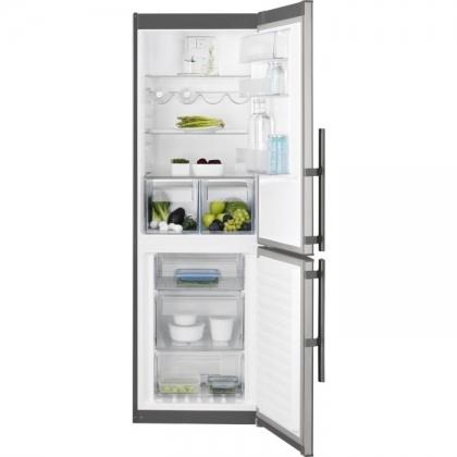 Combina frigorifica No Frost Electrolux EN3453MOX, 60 cm, inox, TwinTech®