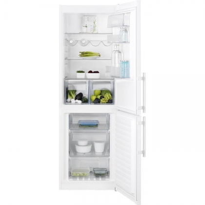 Combina frigorifica No Frost Electrolux EN3452JOW, 60 cm, alba, TwinTech®, afisaj LCD