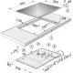 Plita incorporabila inductie Miele KM 6307, 76 cm, Booster, Stop&Go, PowerFlex