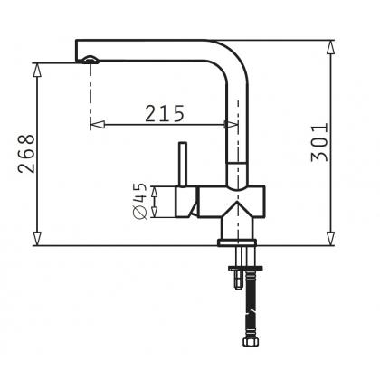Baterie de bucatarie Pyramis Mandolin, inox