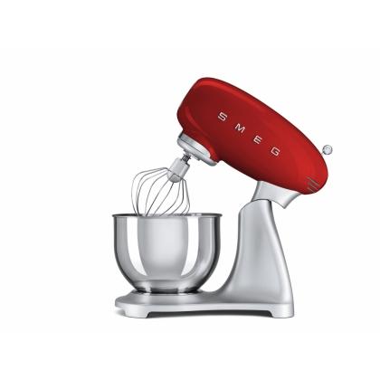 Mixer Smeg SMF01RDEU, rosu, retro, 10 viteze, 800 W