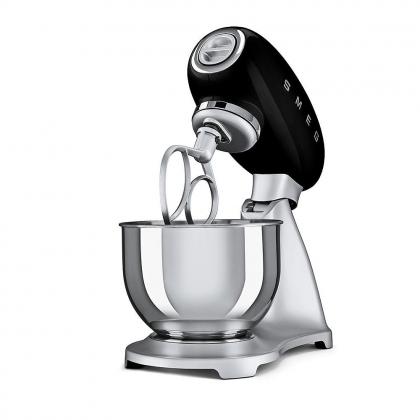 Mixer Smeg SMF01BLEU, negru, retro, 10 viteze, 800 W