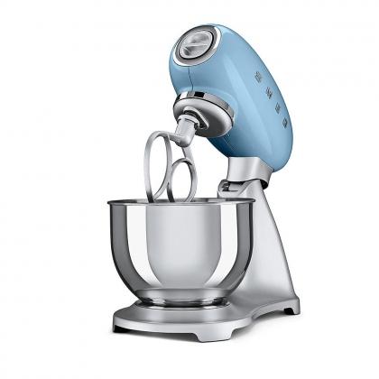 Mixer Smeg SMF01PBEU, albastru, retro, 10 viteze, 800 W