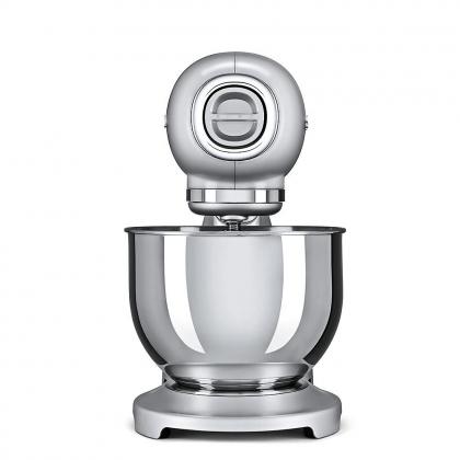 Mixer Smeg SMF01SVEU, silver, retro, 10 viteze, 800 W