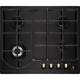 Plita incorporabila pe gaz Electrolux EGH6343BOR, 60 cm, negru, retro