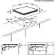 Plita incorporabila cu inductie Electrolux EHI6540FW1, 60 cm, alba, Bridge, Stop&Go