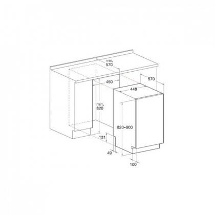 Masina de spalat vase complet incorporabila Hotpoint LSTF 9B116 C EU, 45 cm, 9 programe