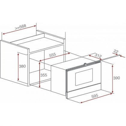 Cuptor incorporabil cu microunde si grill Teka MWS 22 EGL/EGR, 3 programe, inox