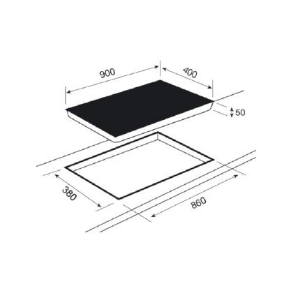 Plita incorporabila inductie Teka IRS 933 HS, 90 cm, iQuick boiling, Stop&Go
