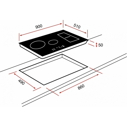 Plita incorporabila inductie Teka IRS 943 HS, 90 cm, iQuick boiling, Stop&Go