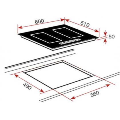 Plita incorporabila inductie Teka IRF 644, 60 cm, 2 zone Flex