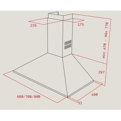 Hota semineu Teka DBP 60 Pro, 60 cm, inox