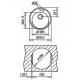 Chiuveta rotunda Teka Centroval 45 TG, Weiss, tegranit, 51 cm diametru