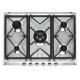 Plita incorporabila pe gaz Smeg Victoria SR975XGH, inox, 70 cm, Wok, fonta