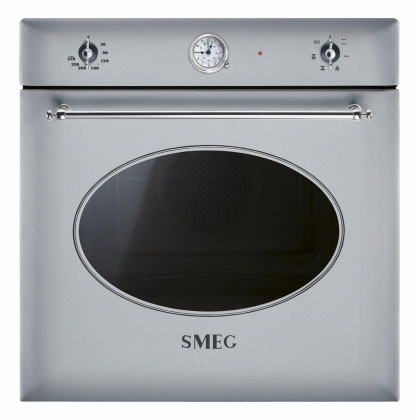 Cuptor incorporabil electric Smeg Colonial SF850X, inox, 60 cm, retro