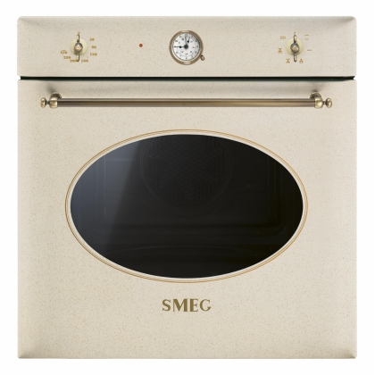 Cuptor incorporabil electric Smeg Colonial SF850AVO, avena, 60 cm, retro