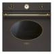 Cuptor incorporabil electric Smeg Colonial SF800C, maro cu estetica aurie, 60 cm, retro