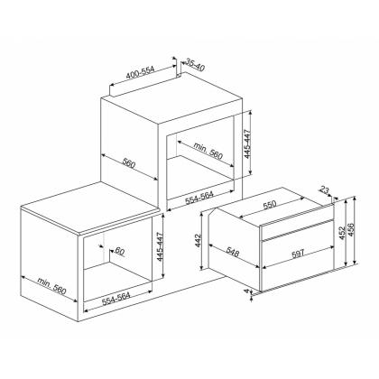 Cuptor incorporabil compact cu microunde Smeg Colonial SF4800MP, crem cu estetica aurie, 60 cm, retro
