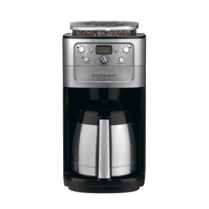Cafetiera cu rasnita cafea Cuisinart DGB900BCE, 1000 W, inox, afisaj LCD