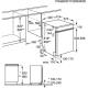 Masina de spalat vase partial incorporabila Electrolux ESI4500LOX, 45 cm, 6 programe