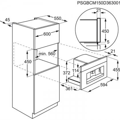 Espressor incorporabil Electrolux EBC54524OX, rasnita, display LCD