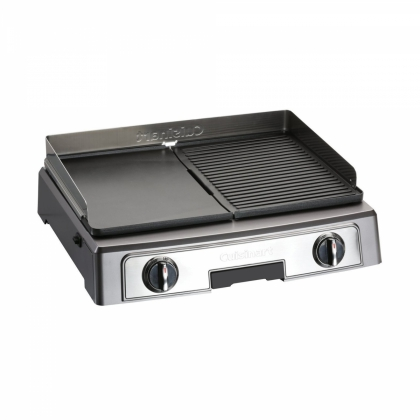 Gratar electric Cuisinart PL50E, 2200 W, 2 placi, termostat reglabil