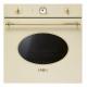Cuptor incorporabil electric Smeg SF805P, crem cu estetica aurie, retro, VaporClean