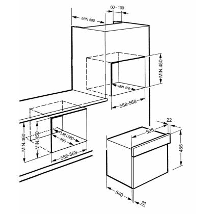 Cuptor incorporabil cu aburi compact Smeg SC45VB2, alb, 35 l, 6 functii