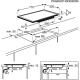 Plita incorporabila vitroceramica Electrolux EHF76451FK, 70 cm, touch control prin culisare, Stop&Go