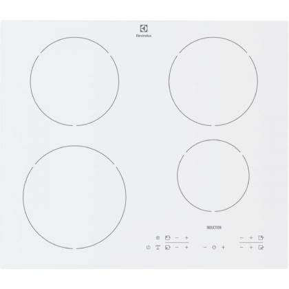 Plita incorporabila inductie Electrolux EHH6340IOW, 60 cm, Booster, Stop&Go, alba