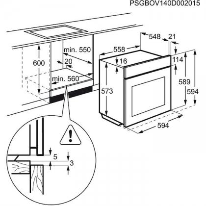 Cuptor incorporabil electric Electrolux EOC3430EOX, 60 cm, pirolitic, inox, ghidaj telescopic