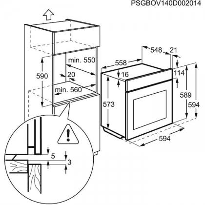 Cuptor incorporabil electric cu aburi Electrolux EOC5654AOX, pirolitic, ghidaj telescopic, inox
