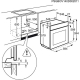 Cuptor incorporabil electric Electrolux EOC5956FOX, pirolitic, 50 retete predefinite, proba de carne, ghidaj telescopic, ecran TFT, inox