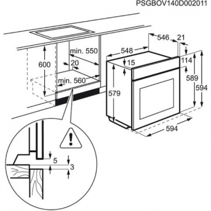 Cuptor incorporabil electric cu aburi Electrolux EOB8857AOX, 180 retete predefinite, proba de carne, ghidaj telescopic, inox
