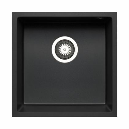 Chiuveta incorporabila sub blat Pyramis TETRAGON 1B, 40 cm, negru