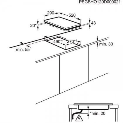 Plita incorporabila inductie Electrolux EHH3920BVK, 30 cm