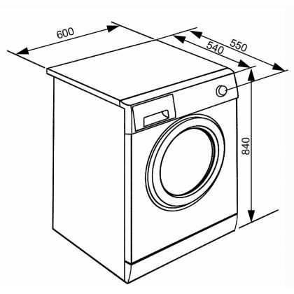 Masina de spalat rufe Smeg WHT814EIN, 8 kg, clasa A+++, inverter