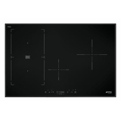 Plita incorporabila inductie Smeg SIM580B, 80 cm, Multizone