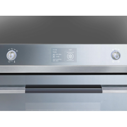 Cuptor incorporabil electric Smeg Linea SF130E, 60 cm, inox, Vapor Clean