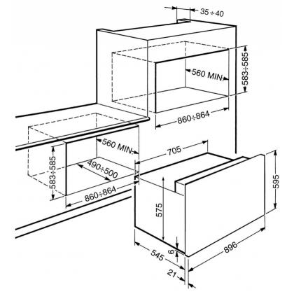 Cuptor incorporabil electric Smeg Classic S920XMF, 90 cm, inox